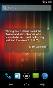 Bible Verse of the Day Widget - screenshot thumbnail