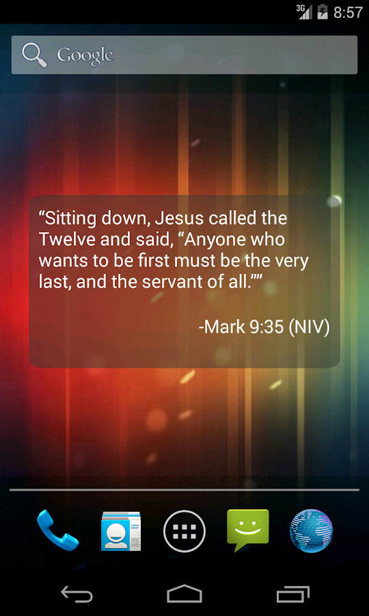 Bible Verse of the Day Widget - screenshot