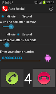 Auto Redial | call timer- screenshot thumbnail