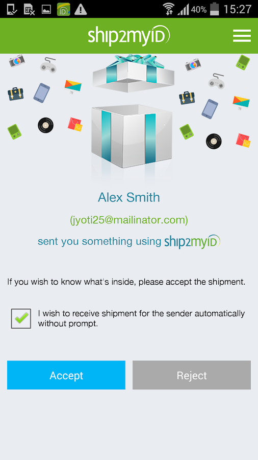 Ship2MyID- screenshot