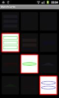 Screenshot of Matching Cards