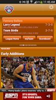 Screenshot of ESPN Fantasy Basketball