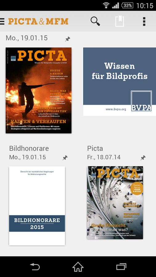 PICTA & MFM – Screenshot