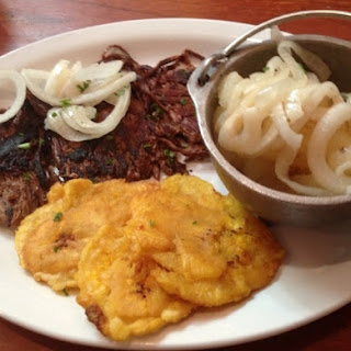 "Vaca Frita (""Fried Cow"" - Cuban Flank Steak)."