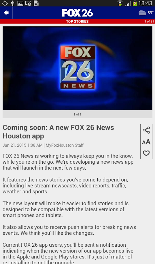 FOX 26 News- screenshot