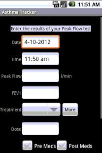Asthma Tracker & Log (free)- screenshot thumbnail