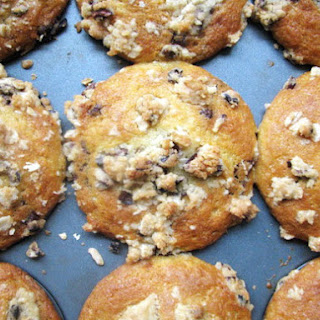 Chocolate Chunk Muffins with Cocoa Nib Streusel
