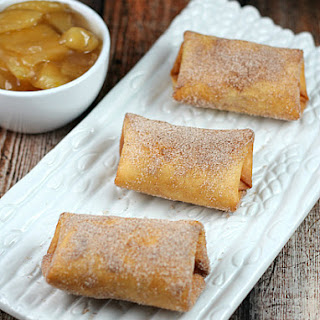Apple Cinnamon Cheesecake Chimichangas