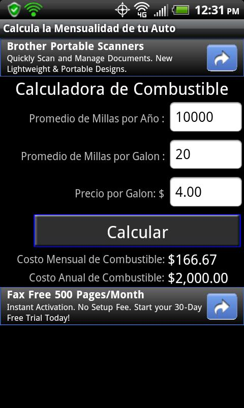Calculate Auto Loan Spanish- screenshot