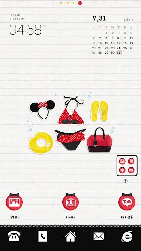 Minnie2 dodol luancher theme
