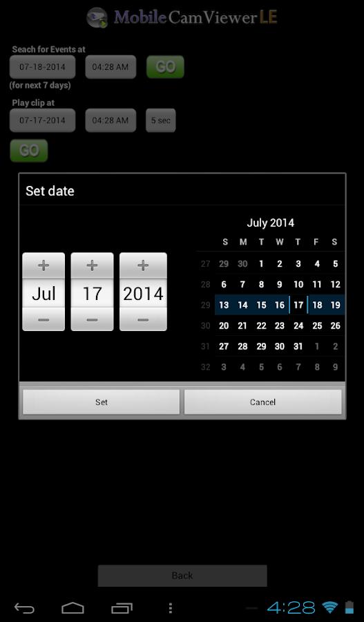 Tablet version MobileCamViewer - screenshot