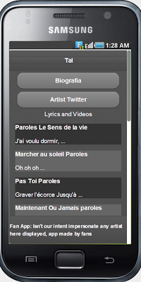 Tal Paroles - screenshot