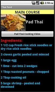 Thai Food Recipes - screenshot thumbnail