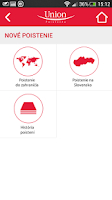 Screenshot of Union mobilné SMS poistenie