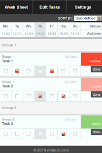 Week Sheet Task Manager - screenshot thumbnail