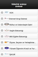 Screenshot of Türkiye Sorgu Ekranı