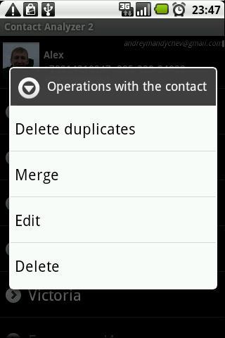 Contact Analyzer 2 - screenshot