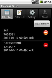Call Filter Manager - screenshot thumbnail