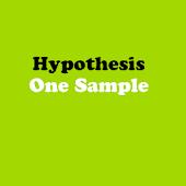 Statistics Hypothesis One