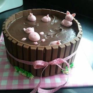 Kit Kat Piggy Cake