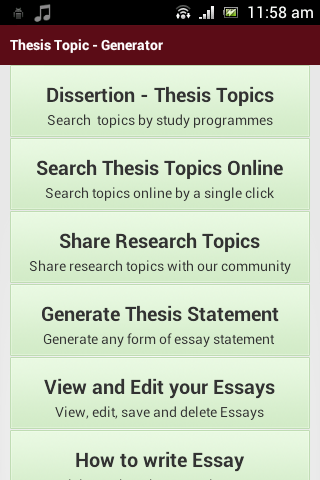Writing Thesis
