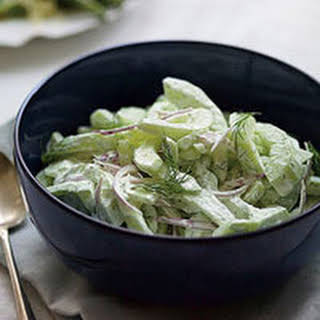 Cucumber Salad with Dill Sour Cream.