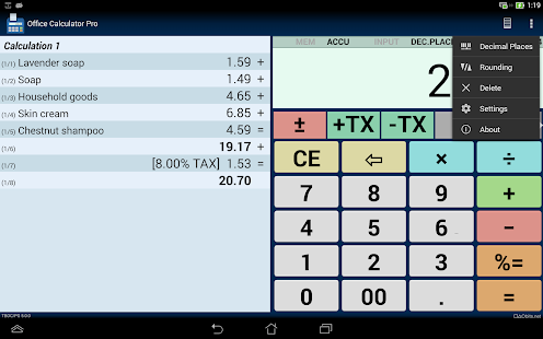 Office Calculator Pro: miniatura de captura de pantalla