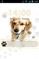 Screenshot of GO Locker Cute Dog Theme v2