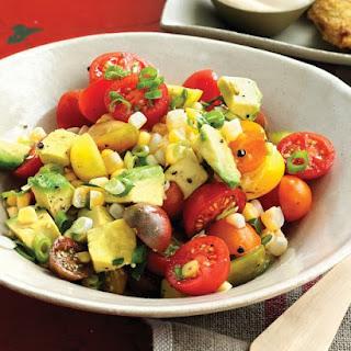 Tomato, Corn, and Avocado Salad.