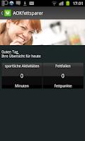 Screenshot of AOK Fettsparer