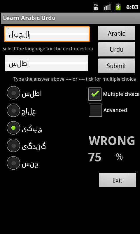 Learn Arabic Urdu - screenshot