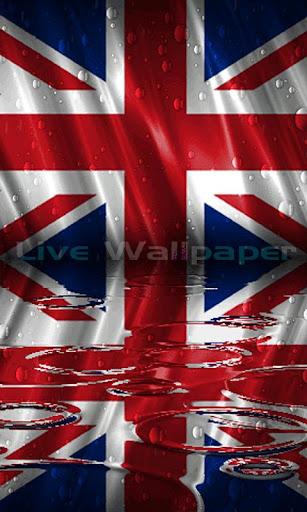 England Flag Raindrop