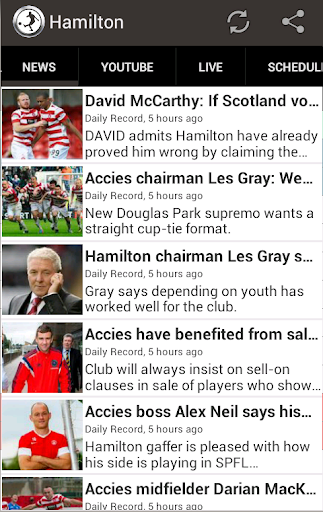 Hamilton Academical FC Fan App