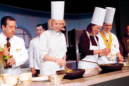 Chefs-Princess-Scholarship-at-Sea - Learn new cooking skills with seasoned chefs during your cruise. Princess Cruises' ScholarShip@Sea Program offers up to 40 enrichment classes on every voyage.
