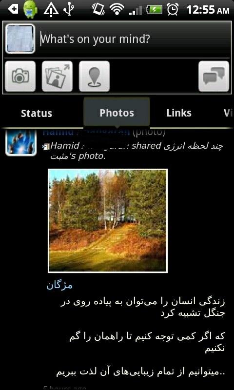 Farsi Facebook - screenshot
