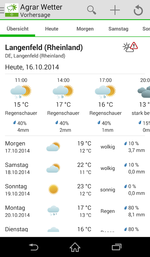 Bayer Agrar Wetter- screenshot