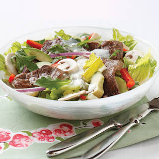 Steak Salad with Dates & Blue Cheese.