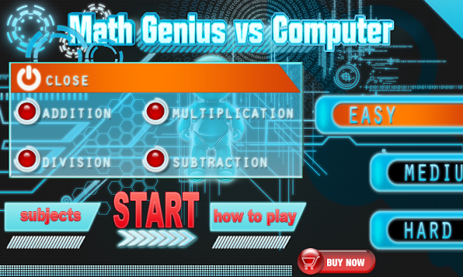 Math Genius vs Computer - screenshot