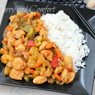 Sweet and Sour Pineapple Chicken.