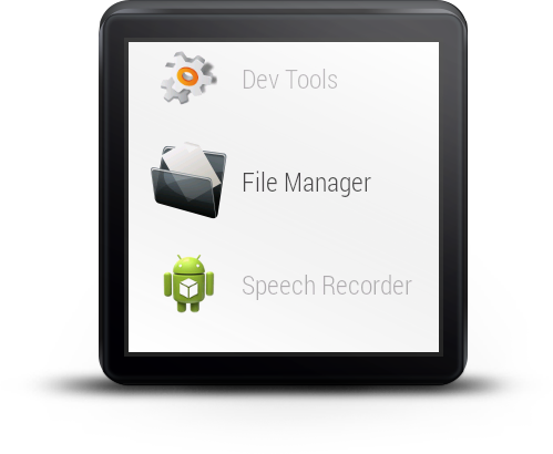 File Manager For Android Wear - screenshot