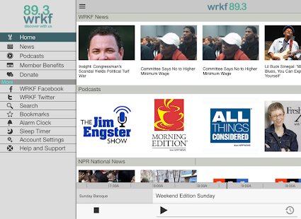 WRKF Public Radio App- screenshot thumbnail