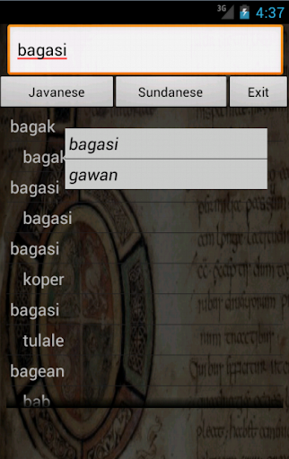 Sundanese Javanese Dictionary