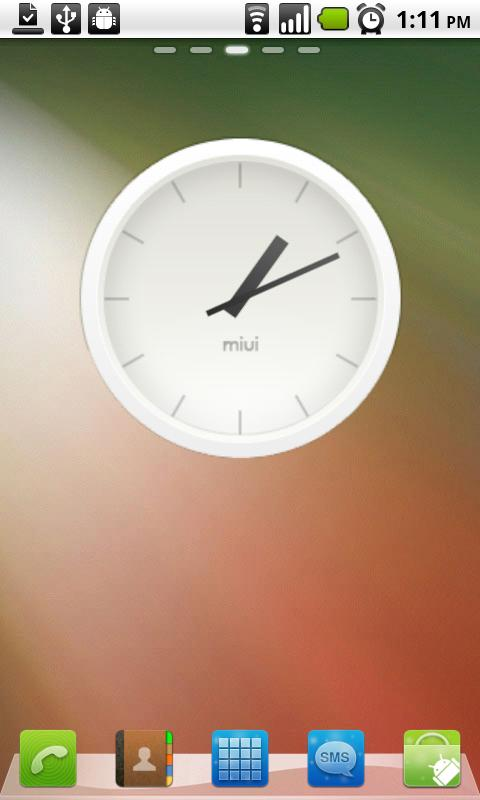 MIUI Analog Clock widget - screenshot
