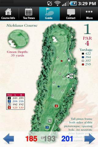 Pinehills Golf App- screenshot