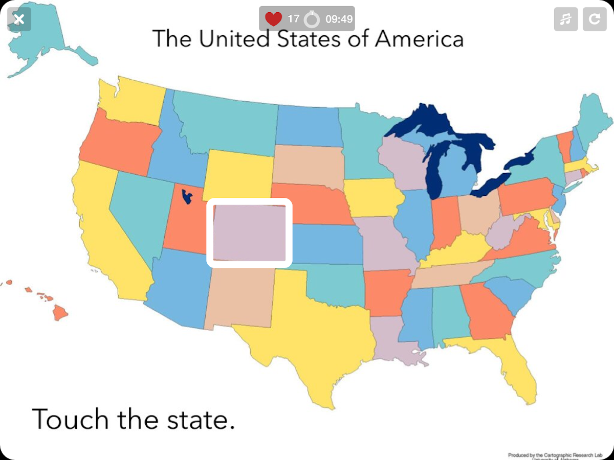US States Map Quiz States Android Apps On Google Play - Maps of the us states
