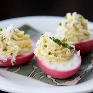 Beet Pickled Deviled Eggs