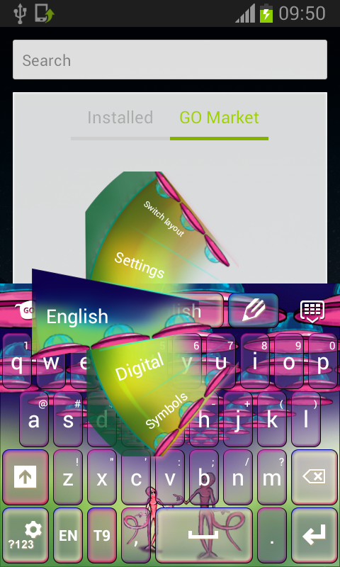 Keyboard Alien Pink - screenshot