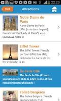 Screenshot of Paris Guide Map for Tourists