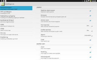 Screenshot of Norgeskart (old devices)