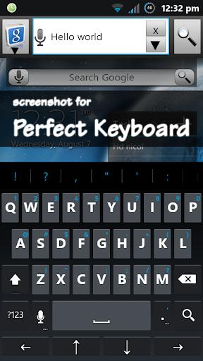 Holo Dark Blue Keyboard Skin